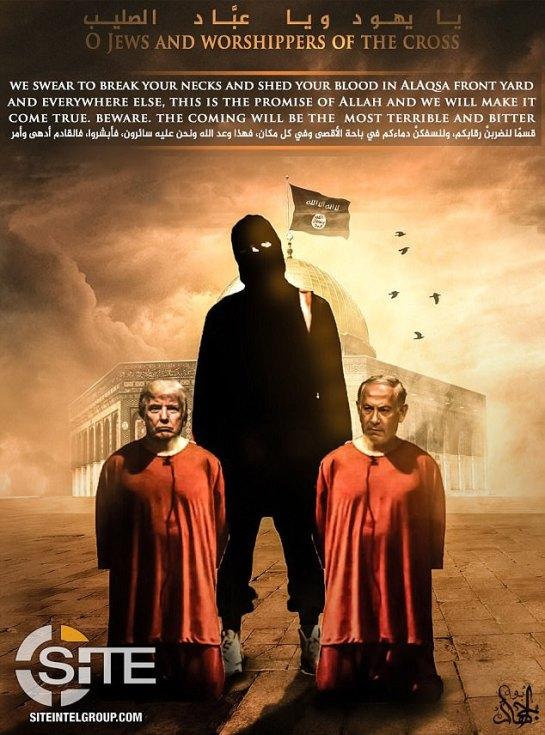 ISIS_plakat_USA_IZRAEL_Jerozolima